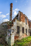 Ruins of the Teutonic fortified manor Stock Photos
