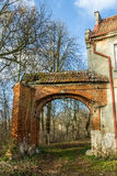 Ruins of the Teutonic fortified manor Stock Images