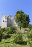 Ruins of 14th century Kazimierz Dolny Castle, defensive fortification, Poland. The building consists of a lower castle and a tower, is a great tourist Royalty Free Stock Images