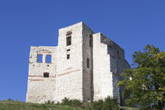 Ruins of 14th century Kazimierz Dolny Castle, defensive fortification, Poland Royalty Free Stock Image