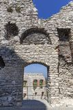 Ruins of 14th century medieval castle, Ogrodzieniec Castle, Poland. Ruins of  medieval castle, Ogrodzieniec Castle, Podzamcze, Poland. The castle is situated on Royalty Free Stock Photo
