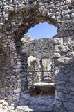 Ruins of 14th century medieval castle, Ogrodzieniec Castle, Poland Royalty Free Stock Photo