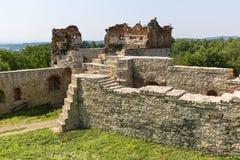 Ruins of 15th century medieval castle, Tenczyn Castle, Polish Jura, Rudno. RUDNO, POLAND - JULY 21, 2018: Ruins of 15th century medieval castle, Tenczyn Castle royalty free stock photo