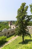 Ruins of 15th century medieval castle, Tenczyn Castle, Polish Jura, Rudno. RUDNO, POLAND - JULY 21, 2018: Ruins of 15th century medieval castle, Tenczyn Castle stock photo
