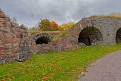 Ruins of the 18th century stone Ungern bastion at Loviisa, Finla Stock Photos
