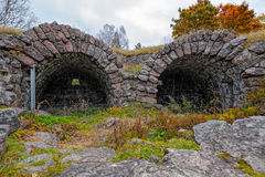 Ruins of the 18th century stone Ungern bastion at Loviisa, Finla Stock Images