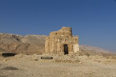 Ruins of the 13th century tomb of Bibi Maryam at Qalhat, near Sur in eastern Oman. Image royalty free stock images