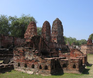 Ruins in Thailand. Old ruins burned down in Thailand Royalty Free Stock Photography