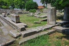 Ruins - landmark attraction in Thassos Island, Greece. Ruins in Thassos Island, landmark attraction in Greece Stock Photos