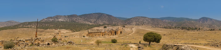 Ruins of theater in ancient Hierapolis Royalty Free Stock Image