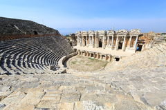 Ruins of theater in ancient Hierapolis, Turkey Stock Photos