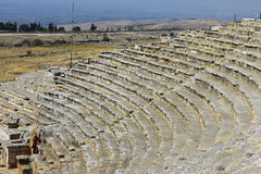Ruins of theater in ancient town Hierapolis Turkey Stock Photo