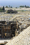 Ruins of theater in ancient town Hierapolis Turkey Royalty Free Stock Images