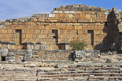 Ruins of theater in ancient town Hierapolis Turkey Royalty Free Stock Image