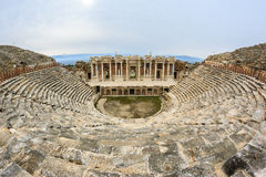 The ruins of the theater in the roman city of Hierapolis Royalty Free Stock Photo