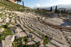 Ruins of the Theatre of Dionysus in Acropolis of Athens, Greece Stock Photo