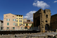 Ruins of Theatre of Orange and Museum royalty free stock image