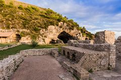 Ruins of Tiberius villa in Sperlonga, Lazio, Italy Stock Photos