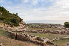 Ruins of Tiberius villa in Sperlonga, Lazio, Italy Stock Images