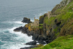 Ruins of tin mine at Botallack, Cornwall. Ruins of the Crown Mines at Botallack,  Cornwall, England Stock Photos
