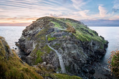 Ruins of Tintagel castle Stock Photo