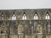 Ruins of Tintern Abbey, a former cistercian church from the 12th Stock Photography