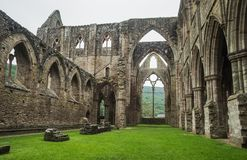 Ruins of Tintern Abbey, a former cistercian church from the 12th Royalty Free Stock Photography