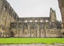 Ruins of Tintern Abbey, a former cistercian church from the 12th Royalty Free Stock Photos