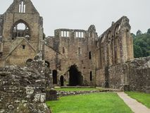 Ruins of Tintern Abbey, a former cistercian church from the 12th Stock Image