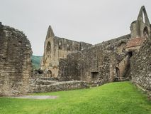 Ruins of Tintern Abbey, a former cistercian church from the 12th Stock Images