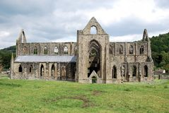 Ruins of Tintern Abbey - village of Tintern Monmouthshire - Wales Royalty Free Stock Photos