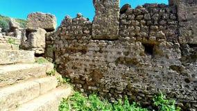 Ruins of Tipasa(Tipaza).The antic city was a colonia in Roman province Mauretania Caesariensis locat stock video