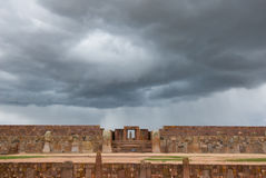 Ruins of Tiwanaku, Bolivia Royalty Free Stock Photo