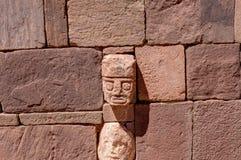 Ruins of Tiwanaku Bolivia La Paz. Photo taken in August 2017 in Tiwanaku Bolivia, South America: Ruins of Tiwanaku. Tiwanaku is a Pre-Columbian archaeological royalty free stock image