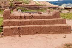 Ruins of Tiwanaku, Bolivia. Tiwanaku is an ancient city near the Lake Titicaca stock images