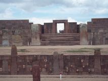 The ruins of Tiwanaku stock photo