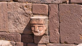 Ruins of Tiwanaku is a Pre Columbian archaeological site in western Bolivia Stock Photography