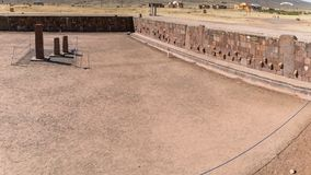 Ruins of Tiwanaku is a Pre Columbian archaeological site in western Bolivia Royalty Free Stock Images