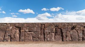Ruins of Tiwanaku is a Pre Columbian archaeological site in western Bolivia Royalty Free Stock Image