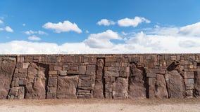 Ruins of Tiwanaku is a Pre Columbian archaeological site in western Bolivia. Tiwanaku - Bolivia - September 2017: Ruins of Tiwanaku is a Pre Columbian royalty free stock image