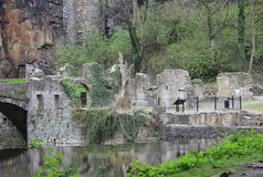 Ruins by a River Stock Images