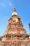 Ruins of tower in Ayutthaya Royalty Free Stock Photos