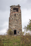 The ruins of the tower of Bismarck in the Kaliningrad region Royalty Free Stock Images