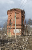 The ruins a tower on the estate Dashkevich. Luga district, Leningrad region Royalty Free Stock Images