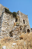 Ruins of tower house in Vathia Royalty Free Stock Photo