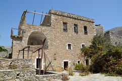Ruins of tower house in Vathia Stock Photography