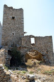 Ruins of tower house in Vathia Stock Images