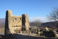 The ruins of the tower of Jvari Monastery in Mtskheta, Georgia Stock Photo