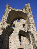 Ruins of a tower made of stone Stock Photos