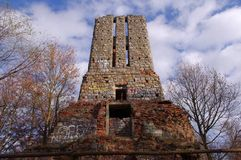 The ruins of the tower. Royalty Free Stock Image